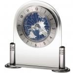 Настольные часы из стекла