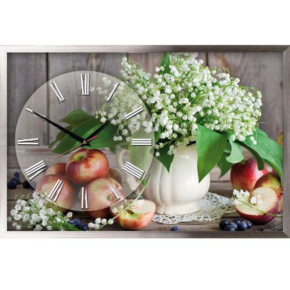 Настенные часы с цветами