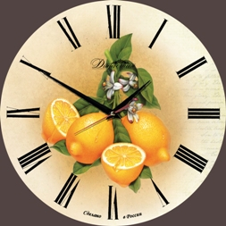Часы с фруктами, ягодами