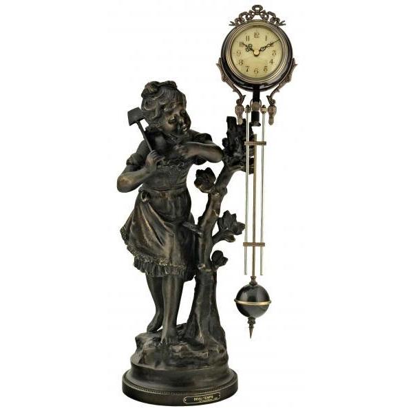 Скульптурные настольные часы