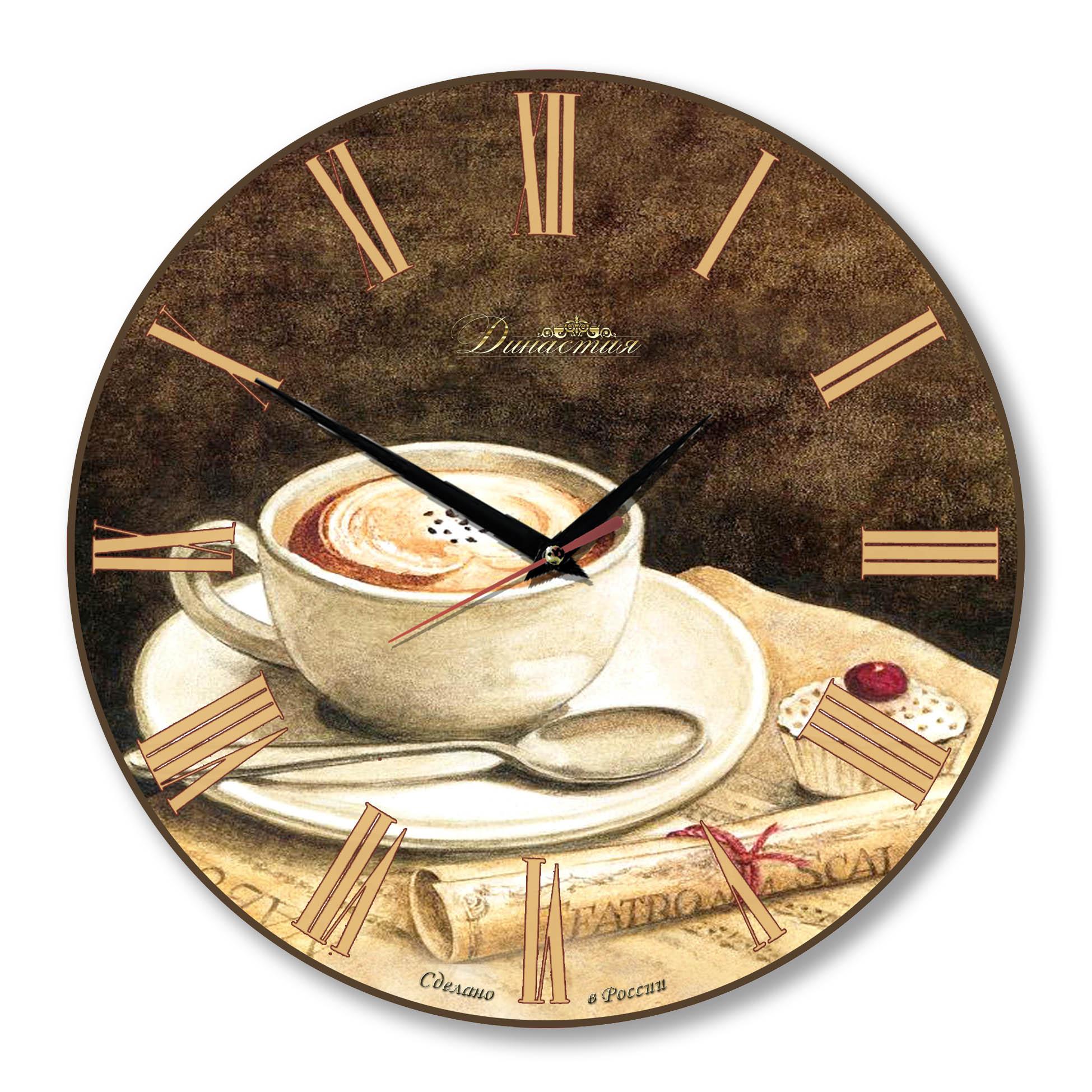 Настенные часы Династия из стекла