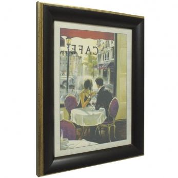 Часы картины Династия 05-001-02 Завтрак в кафе