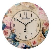 """Настенные часы Династия 02-025 """"Незабудки-3"""""""