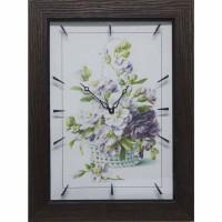 Часы картины Династия 04-041-05 Цветочная корзина