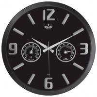 Настенные часы с термометром и гигрометром GALAXY 705-K
