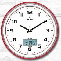 Настенные часы с термометром GALAXY T-1971-N