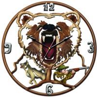 "Часы настенные Tiarella ""Охота на медведя"""