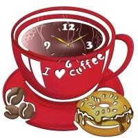 """Часы настенные Tiarella """"Чашка кофе"""""""