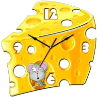 """Часы настенные Tiarella """"Ломтик сыра"""""""