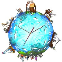 "Часы настенные Tiarella ""Рыбалка"""