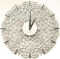 Настенные часы jclock JC10-50 Silver засечки Икониум (серебро) (склад)