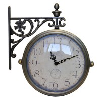Часы настенные двусторонние на подвесе B&S M-195 CR (A)