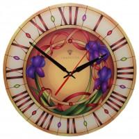 """Настенные часы Тиарелла """"Витраж-1"""" из стекла"""