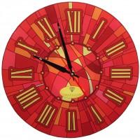 """Настенные часы Тиарелла """"Витраж-3"""" из стекла"""