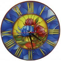 """Настенные часы Тиарелла """"Витраж-5"""" из стекла"""