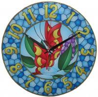 """Настенные часы Тиарелла """"Витраж-7"""" из стекла"""