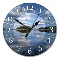 """Настенные часы из стекла Династия 01-020 """"Озеро"""""""