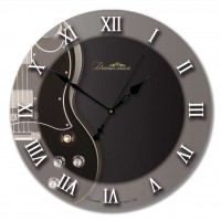 """Настенные часы из стекла Династия 01-025 """"Гитара"""""""