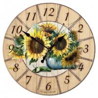 """Настенные часы Династия 02-012 """"Подсолнухи"""""""