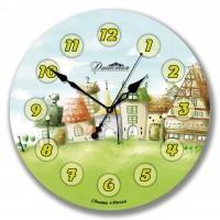 Настенные часы из стекла Династия 01-041
