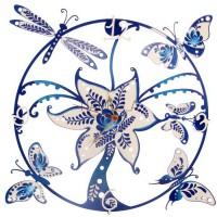 """Часы настенные Tiarella """"Бабочки стрекозы"""""""