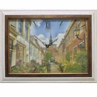 Часы картины Династия 04-014-11 Улица в Голландии