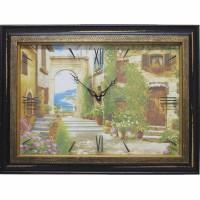Часы картины Династия 04-030-12 Уютный дворик