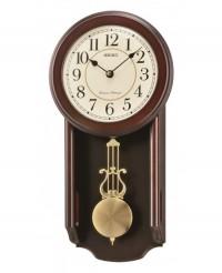 Настенные часы Seiko QXH063BN с боем и маятником