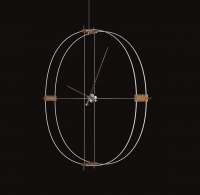 Часы Nomon Delmori, white/walnut, d=140cm