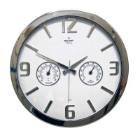 Настенные часы с термометром и гигрометром GALAXY MK-705-1