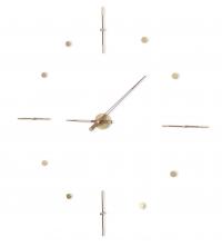 Часы Nomon Mixto Gold N 155, полированная латунь/орех, d=155cm.