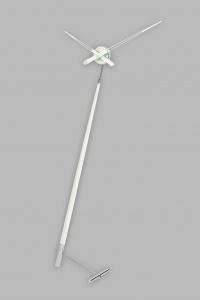 Часы Nomon Pisa L WHITE, хромированная сталь/белый лак, d=73 см, h=150cm