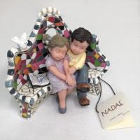 Статуэтка Nadal 784110 Влюбленные на скамейке (маленькая)