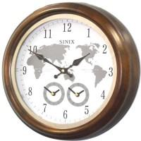 Настенные часы с часовыми поясами Sinix-5086