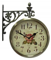 Часы настенные двусторонние на кронштейне B&S М195 AF
