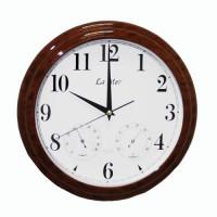 Настенные часы с термометром и гигрометром La Mer GD 115-5
