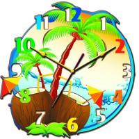 """Часы настенные Tiarella """"Пляж"""""""