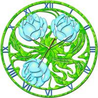 """Часы настенные Tiarella """"Полевые цветы"""""""