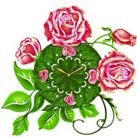 "Часы настенные Tiarella ""Цветок"""