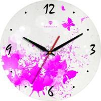"""Настенные часы из стекла Tiarella """"Ретро 7"""""""