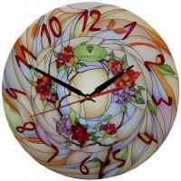 """Настенные часы Тиарелла """"Витраж-2"""" из стекла"""