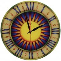 """Настенные часы Тиарелла """"Витраж-4"""" из стекла"""