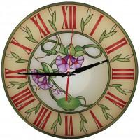 """Настенные часы Тиарелла """"Витраж-6"""" из стекла"""