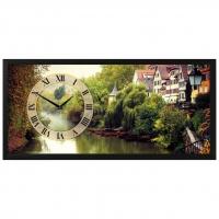 """Настенные часы из песка Династия 03-076 """"Река"""""""