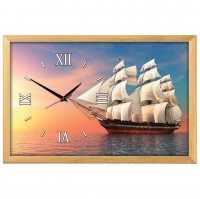 """Настенные часы из песка Династия 03-156 """"Корабль"""""""