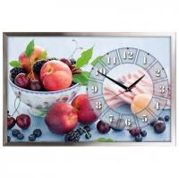 """Настенные часы из песка Династия 03-159 """"Фрукты"""""""