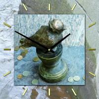 """Настенные часы из стекла Династия 01-101 """"Чижик-Пыжик"""""""
