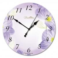 """Настенные часы из стекла Династия 01-002 """"Весеннее настроение"""""""
