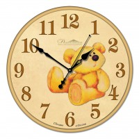 """Настенные часы из стекла Династия 01-009 """"Медвежонок"""""""