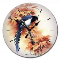 """Настенные часы из стекла Династия 01-011 """"Птичка"""""""